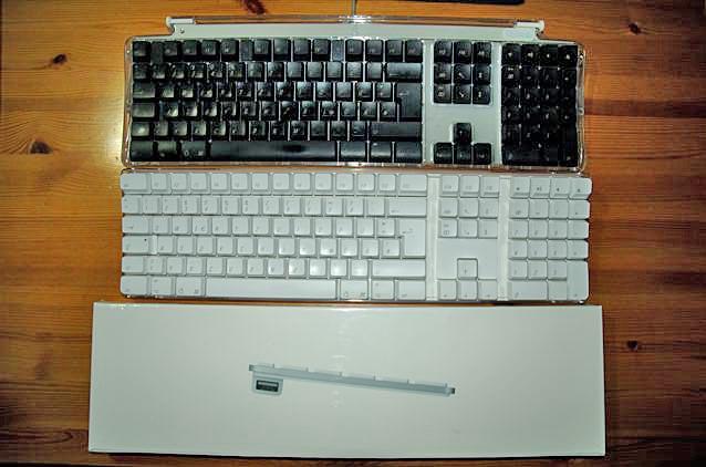 Drei Tastatur-Generationen