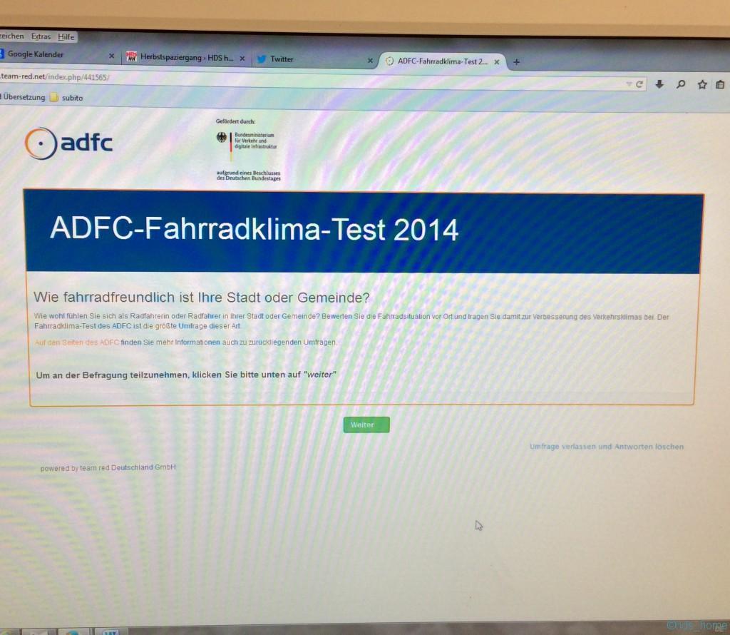 ADFC-Fahrradklima-Test 2014