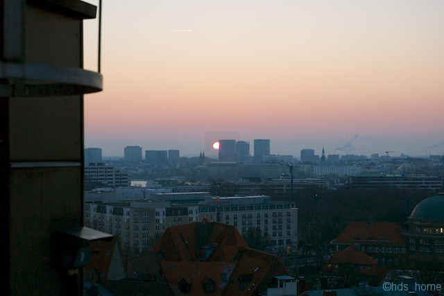 Sonnenaufgang über Hamburg- vorher