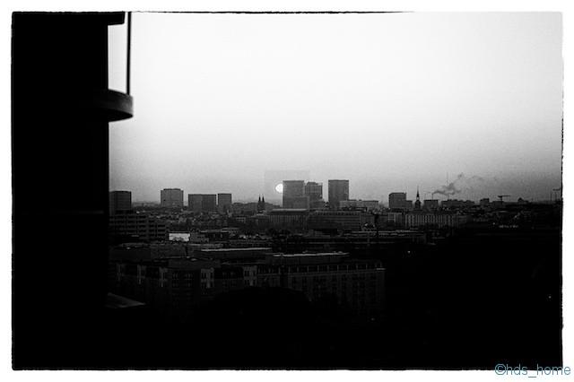 Sonnenaufgang über Hamburg- nachher