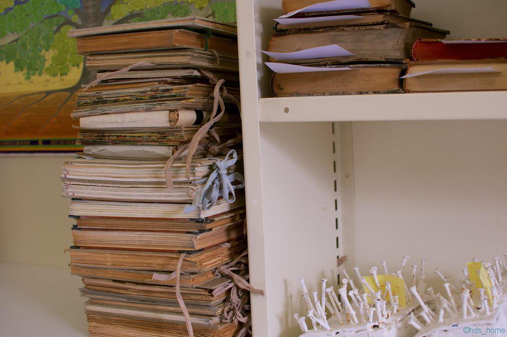 Büroecke in der Buchbinderei der SUB